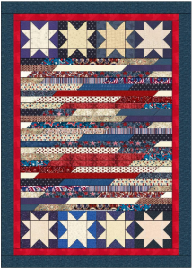 """Patriotic Mini Quilt"" Free Pattern designed by Lisa Sutherland from Quilt Jubilee"