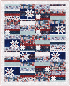 """Stars and Stripes Forever"" Free Pattern designed by Wendy Shepphard from Hoffman Fabrics"