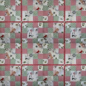 CelebrateWinterBirds-LapQuilt-49square