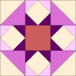 Raspberry Cheesecake Quilt Block from QuiltTherapy.com