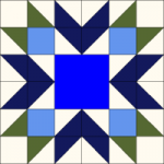 Blueberry Pie Quilt Block from QuiltTherapy.com