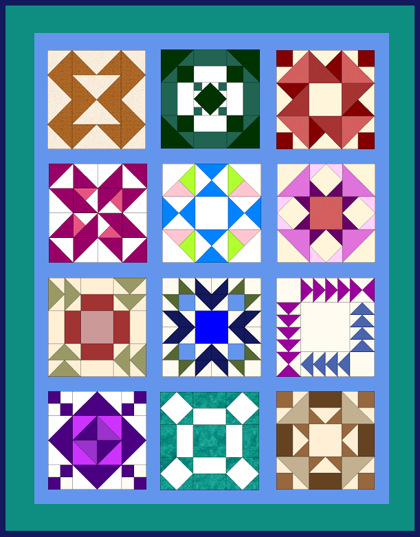 Quilted Kitchen Sampler Quilt from QuiltTherapy.com and BOMquilts.com