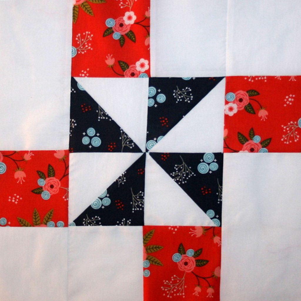 """Happiness is Quilting"" Block #7"