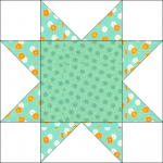 "Sawtooth Star Quilt Block for ""Windowsill Wonders"" 2018 Row of the Month Quilt from BOMquilts.com!"