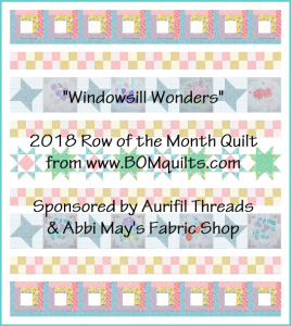 """Windowsill Wonders"" 2018 Free Row of the Month (ROM) quilt design by TK Harrison"