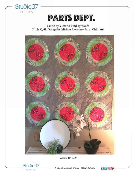 """Circle Quilt"" Free Baby Quilt Pattern designed by Miriam Rawson from Marcus Fabrics"