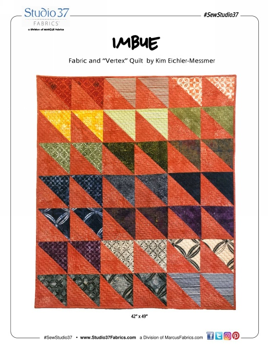 """Vertex"" Free Baby Quilt Pattern designed by Kim Eichler-Messmer from Marcus Fabrics"