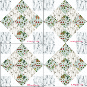 """""""Aspen Christmas Gathering"""" free Christmas in July 2018 lap quilt, an original pattern by TK Harrison from BOMquilts.com!"""