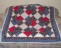 """Card Trick Baby Quilt"" Free Charity Quilt Pattern designed by Bobbi Janik from Project Linus brought to you by BOMquilts.com"