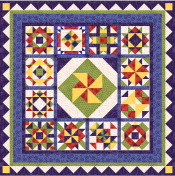 Patchwork Pinache from BlockCentral.com designed by Kim Noblin
