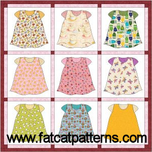 """""""Rompers"""" Free Quilt Pattern designed by Sindy   Rodenmayer from Fat Cat Patterns"""
