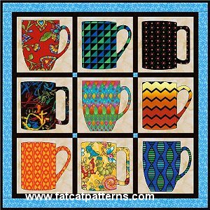 """""""Cuppa Joe"""" Free Quilt Pattern designed by Sindy   Rodenmayer from Fat Cat Patterns"""