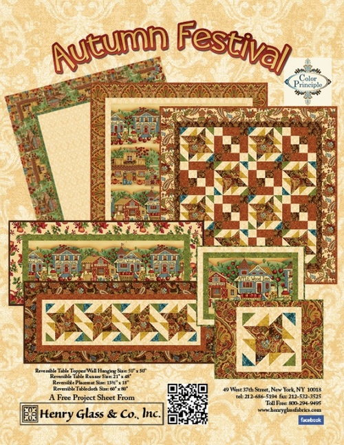 """Autumn Festival"" Free Patterns from Henry Glass Fabrics"