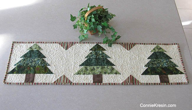 """Christmas Tree Runner Tutorial"" Free Pattern designed by Connie Kresin Campbell from Connie Kresin"