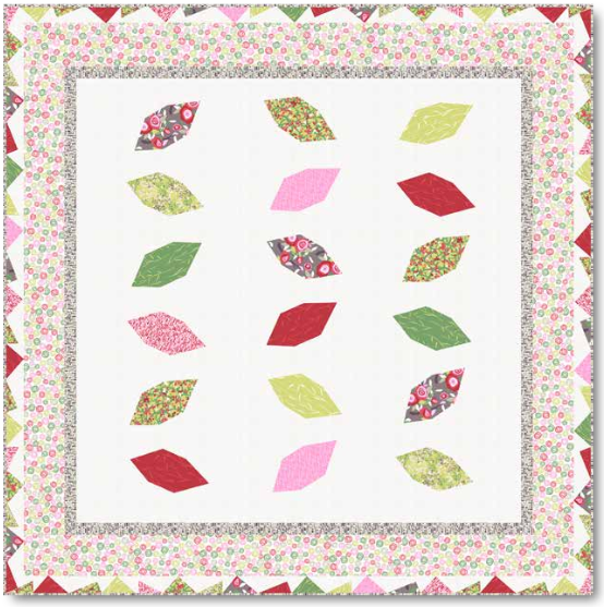 """Analee"" Free Appliqué Quilt Pattern designed by Jane Dixon and Gail Kessler from Andover Quilts"