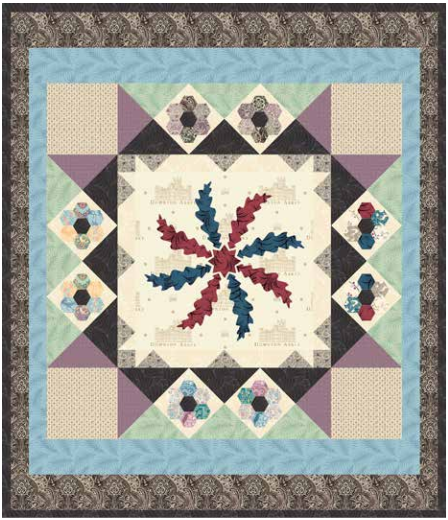 """Birds of a Feather"" Free Appliqué Quilt Pattern designed by Lucy Fazely from Andover Quilts"