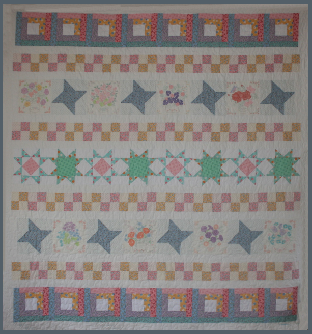 """Windowsill Wonders"" made by TK Harrison, Owner of BOMquilts.com amd Designer of her ""Windowsill Wonders"" Quilt."