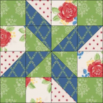 """Harry Loves Alice"" 2019 Block of the Month Quilt from BOMquilts.com - Block #1 Clay's Choice"