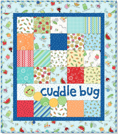 """Cuddle Bug Flannel"" Free Pattern designed by Kim Christopherson from Maywood Studio"