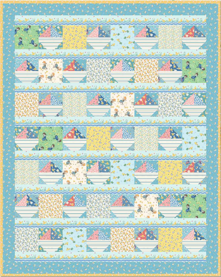 """Ducks and Boats"" Free Pattern designed by Rachel Shelburne from Maywood Studio"