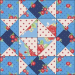 """Harry Loves Alice"" 2019 Block of the Month Quilt from BOMquilts.com - Block #2 Girl's Favorite"