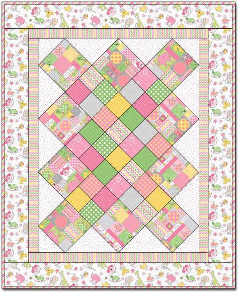 """Little One Girl Quilt"" Free Pattern designed by Grace Wilson from Maywood Studio brought to you by Windham Fabrics"