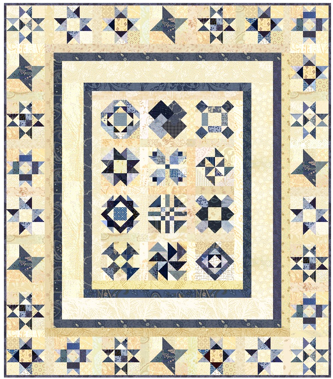 """Love in the Mist"" Free BOM Pattern designed by LeAnn Weaver from Persimmon Quilts"