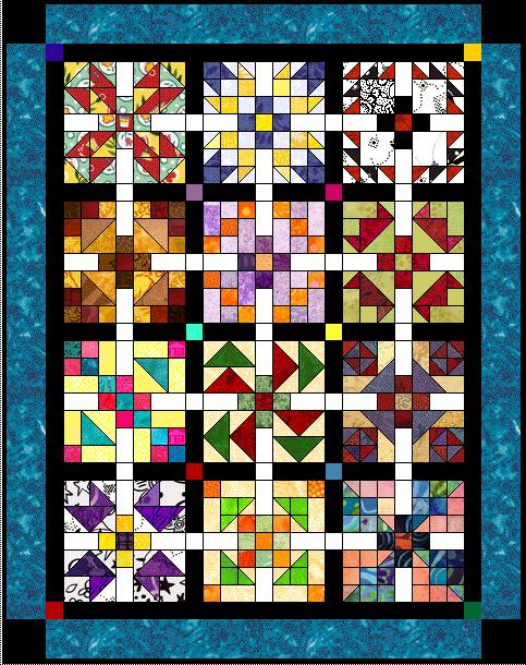 """Scrappy 2009-2010"" Free BOM Pattern designed by LeAnn Weaver from Persimmon Quilts"