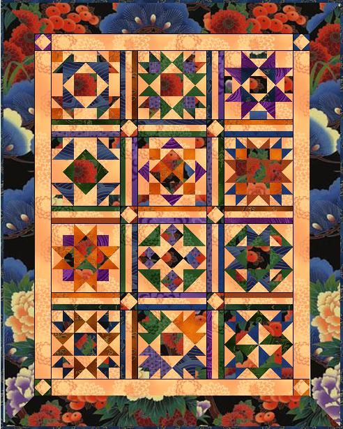 """Scrappy 2010-2011"" Free BOM Pattern designed by LeAnn Weaver from Persimmon Quilts"