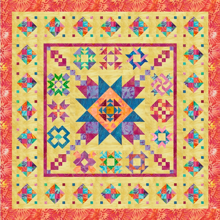 """Sweet Dreams & Sunbeams"" Free BOM Pattern designed by LeAnn Weaver from Persimmon Quilts"