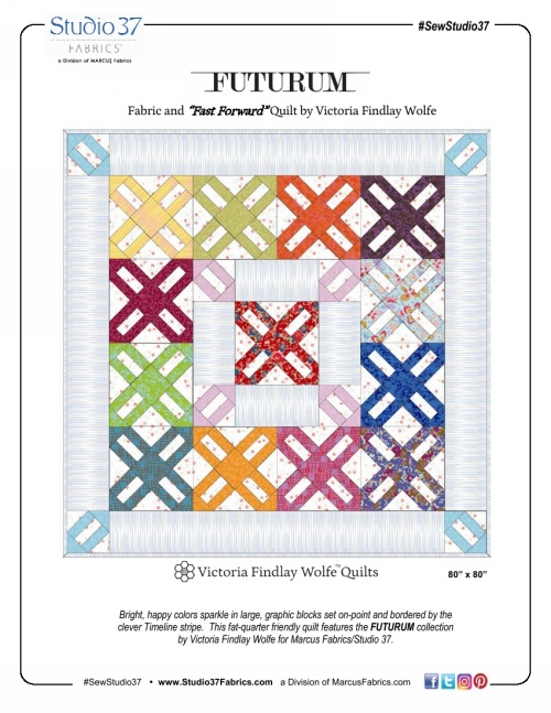 """Fast Forward"" Free Pattern designed by Victoria Findlay Wolfe from Marcus Fabrics"