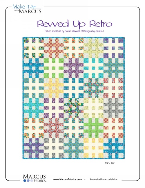 """Revved Up Retro"" Free Pattern designed by Sarah Maxwell of Designs by Sara J from Marcus Fabrics"