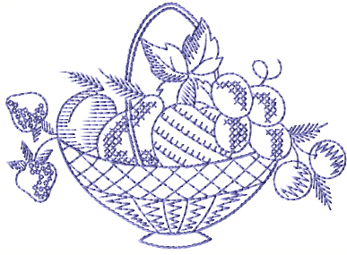 """Fruit Basket"" Free Machine Embroidery Pattern from ABC Embroidery Designs"