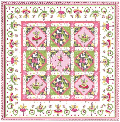 """Magic Pixie Quilt"" Free Pattern designed by Marsha Moore from Michael Miller"