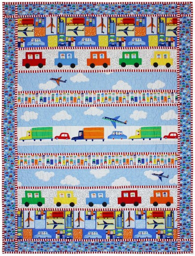 """Trucks, Cars & Planes"" Free Pattern designed by Marinda Stewart from Michael Miller Fabrics"