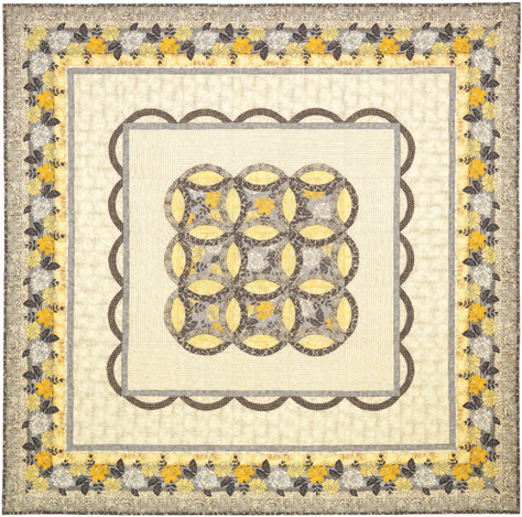 """Ophelia"" Free Wedding Quilt Pattern designed by Konda Luckau from Timeless Treasures"