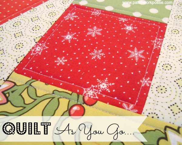 """Quilt as you Go Tutorial"" Free Quilt Pattern from Patchwork Posse"