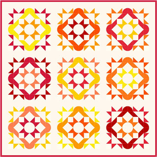 """Summer Solstice Quilt Along"" Free Quilt Pattern designed by Melissa Corry from Happy Quilting"