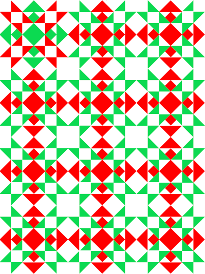 """Poinsettia Lap Quilt"" Free Christmas in July Pattern designed by TK Harrison from BOMquilts.com!"