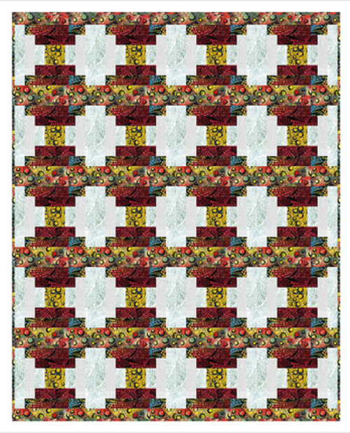 """Axle Grease"" Free Thanksgiving Quilt Pattern designed by Christine Stainbrook from Project House 360 brought to you by Anthology Fabrics"