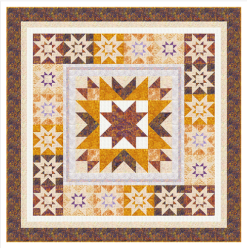 """Marigold Estate"" Free Thanksgiving Quilt Pattern designed by Wendy Sheppard from Anthology Fabrics"