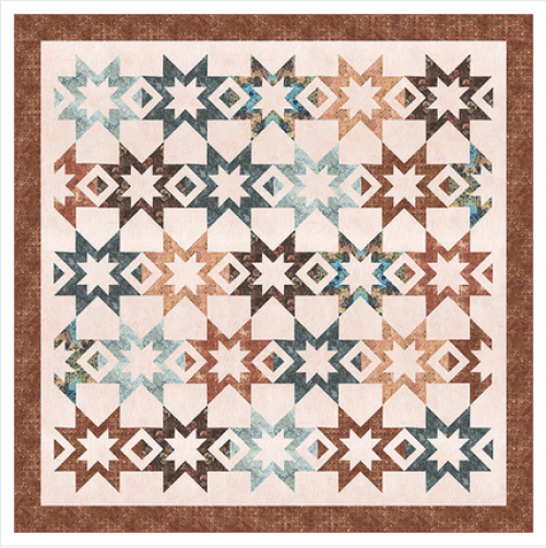 """Star Tracks in Sienna"" Free Thanksgiving Quilt Pattern designed by Wendy Sheppard from Anthology Fabrics"