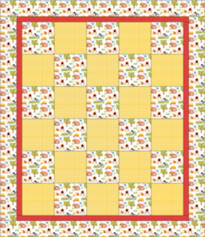 """Alternate Square Pattern"" Free Charity Quilt Pattern designed & from Quilts for Kids"