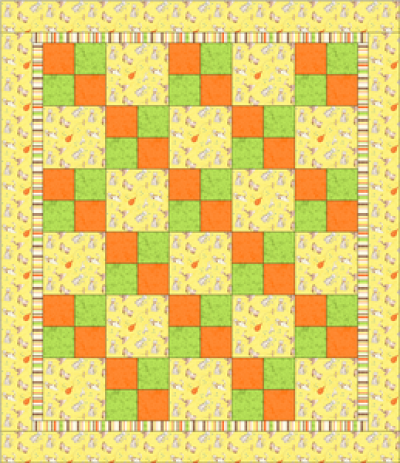 """Four Patch Pattern"" Free Charity Quilt Pattern designed & from Quilts for Kids"