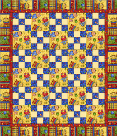 """Nine Patch Pattern"" Free Charity Quilt Pattern designed & from Quilts for Kids"