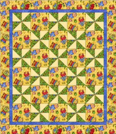 """Pinwheel Pattern"" Free Charity Quilt Pattern designed & from Quilts for Kids"