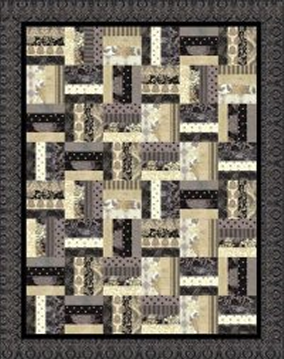 """Rail Fence"" Free Charity Quilt Pattern designed & from Quilts for Kids"