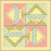 """""""Faded Baskets Table Topper"""" – an Original Design and Free Quilted Table Topper Pattern by TK Harrison, Owner of BOMquilts.com!"""