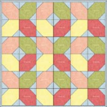 """""""Faded Hugs & Kisses"""" – an Original Design and Free Quilted Table Topper Pattern by TK Harrison, Owner of BOMquilts.com!"""