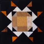 """Stockyard Star"" made by Meloney F. Pattern Tester for my 2020 ""Midnight Stargazer"" BOM Quilt!"